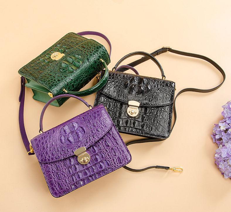 Ladies Designer Crocodile Purses Cross Body Handbags-Exhibition