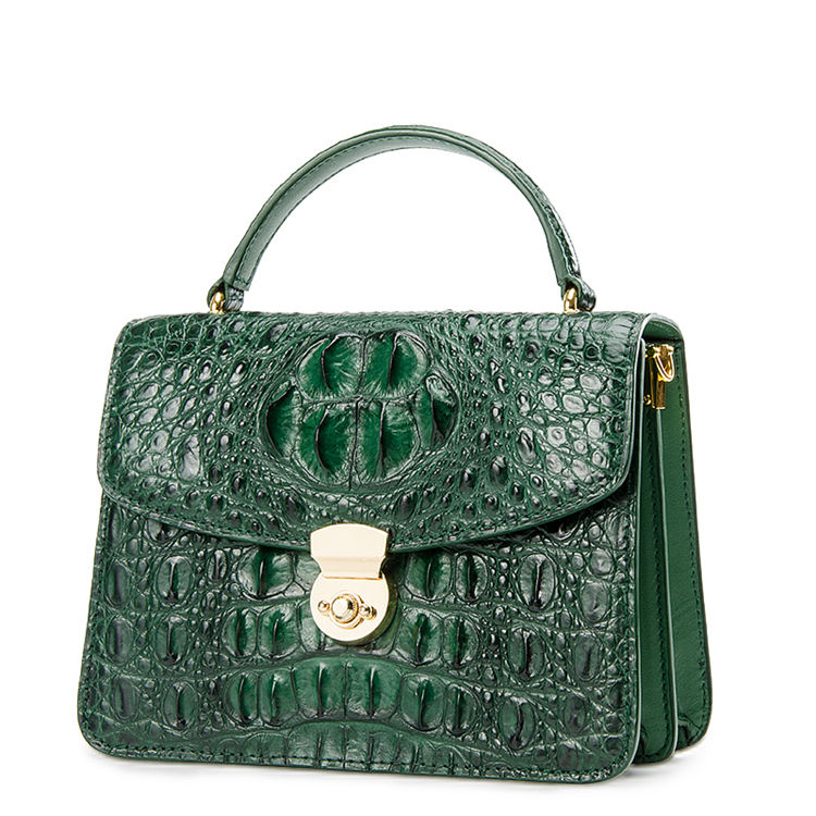 71ae577771 Ladies Designer Crocodile Purses Cross Body Handbags-Green