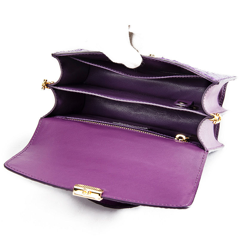 Ladies Designer Crocodile Purses Cross Body Handbags-Inside