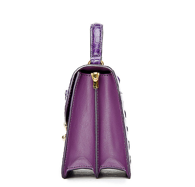 Ladies Designer Crocodile Purses Cross Body Handbags-Side