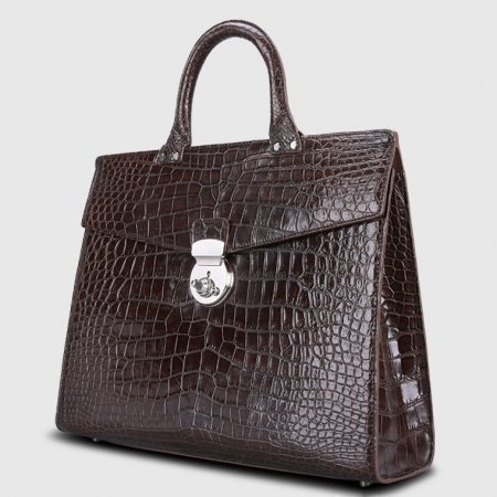 Luxury Alligator Lawyer Bag, Alligator Briefcase-1