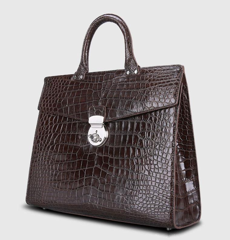 Luxury Alligator Lawyer Bag, Alligator Briefcase-1