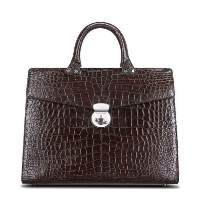 Luxury Alligator Lawyer Bag, Alligator Briefcase