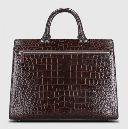 Luxury Alligator Lawyer Bag, Alligator Briefcase-Back