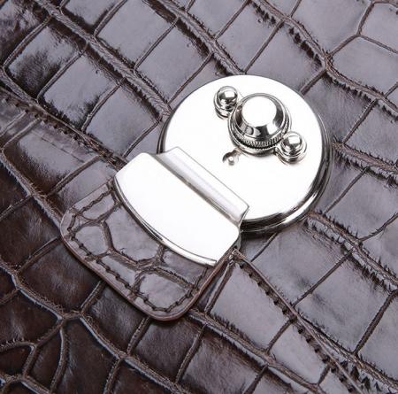 Luxury Alligator Lawyer Bag, Alligator Briefcase-Details