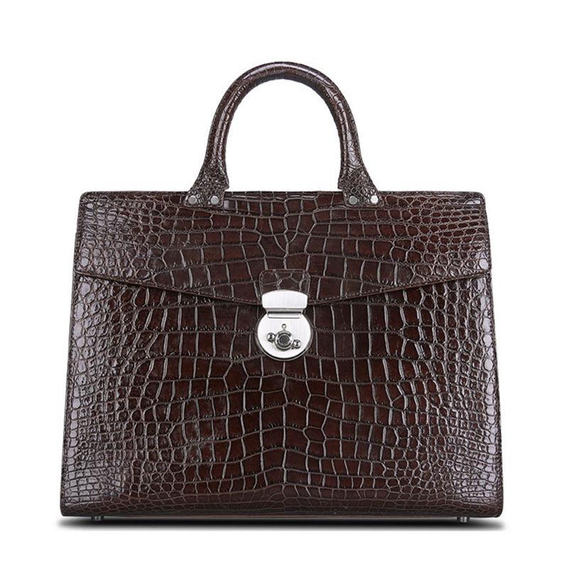 Luxury Alligator Lawyer Bag, Alligator Briefcase