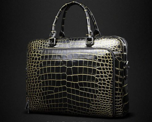 Luxury Alligator Skin Briefcase