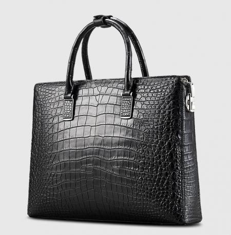 Luxury Business Alligator Skin Briefcase for Men-1