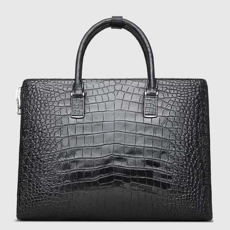 Luxury Business Alligator Skin Briefcase for Men-Back