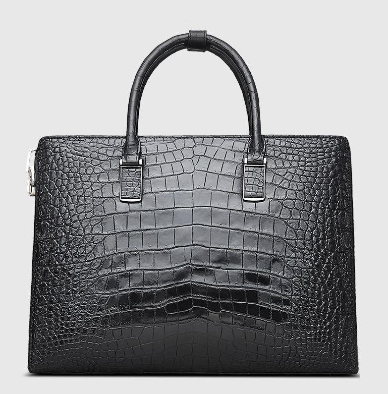 Luxury Business Alligator Skin Briefcase for Men-Back