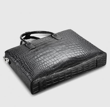 Luxury Business Alligator Skin Briefcase for Men-Bottom