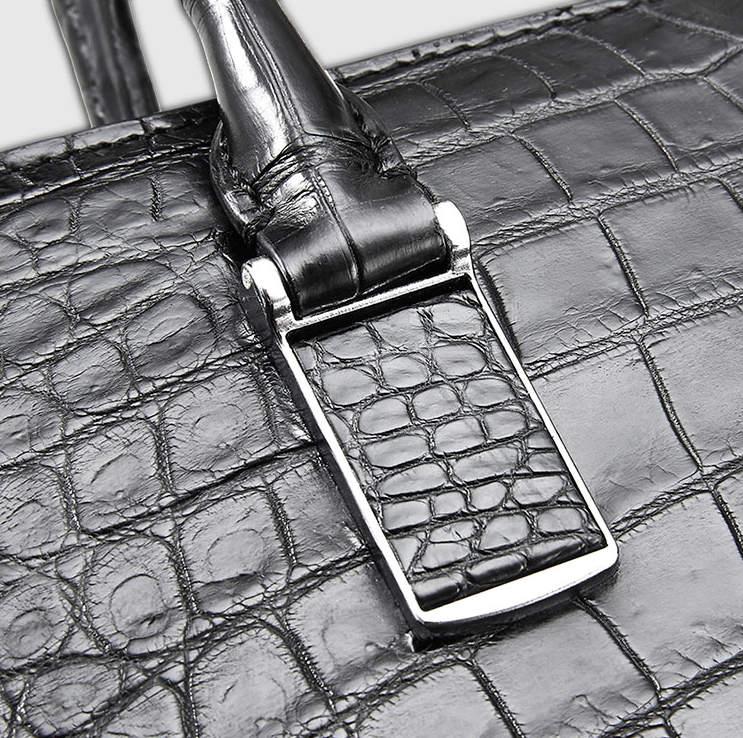 Luxury Business Alligator Skin Briefcase for Men-Details-1