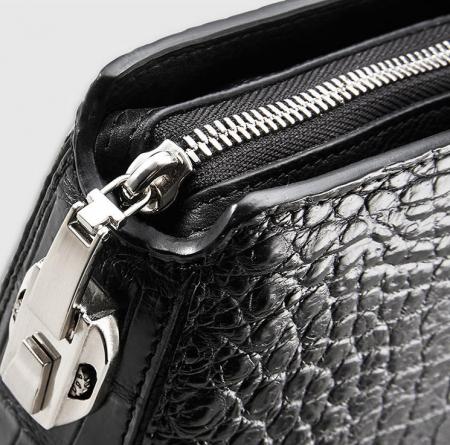 Luxury Business Alligator Skin Briefcase for Men-Details