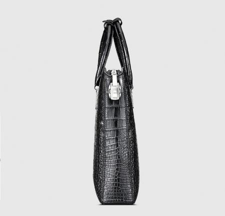 Luxury Business Alligator Skin Briefcase for Men-Side