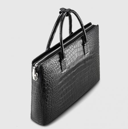Luxury Business Alligator Skin Briefcase for Men-Top