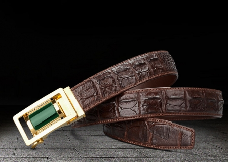 Luxury Crocodile Belt With Agate Buckle-Exhibition