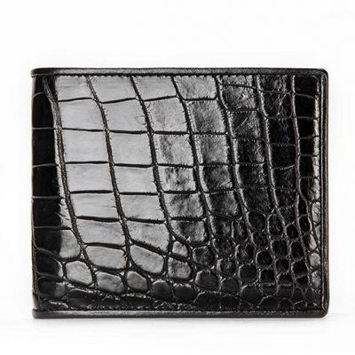 Luxury Crocodile Wallet, Premium Crocodile Bifold Wallet