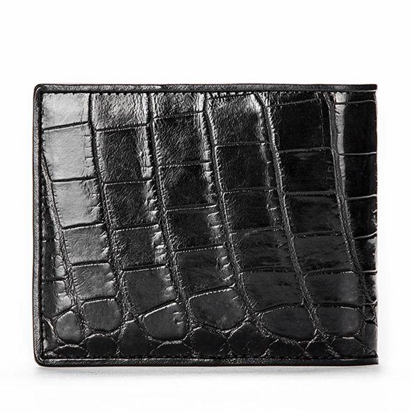 Luxury Crocodile Wallet, Premium Crocodile Bifold Wallet-Back