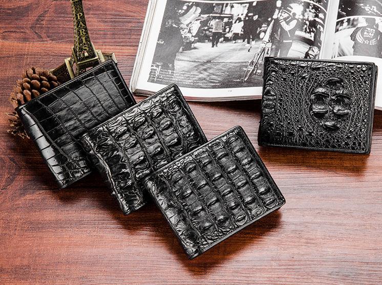 Luxury Crocodile Wallet, Premium Crocodile Bifold Wallet-Exhibition