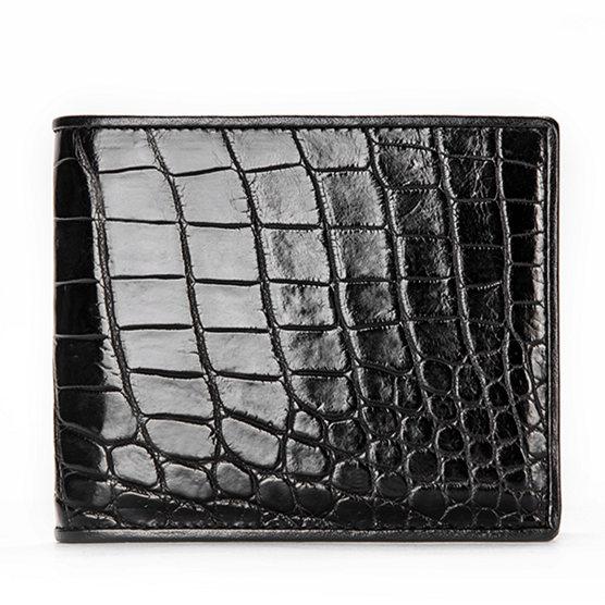 Luxury Crocodile Wallet, Premium Crocodile Bifold Wallet