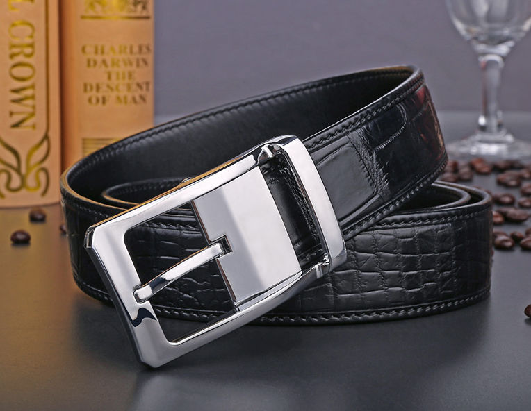 Mens Alligator Dress Belt, Classic Alligator Belt for Men-2