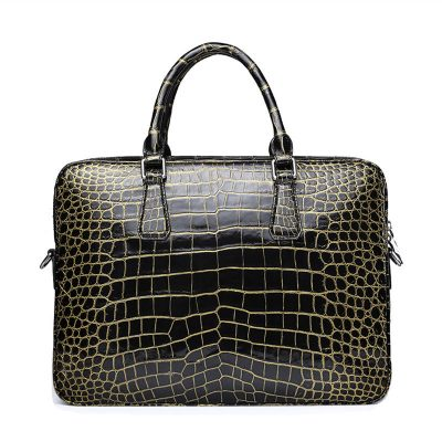 Mens Alligator Leather Briefcase Shoulder Laptop Business Bag