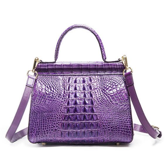 Style Crocodile Handbag Shoulder Bag Evening Bag-Back