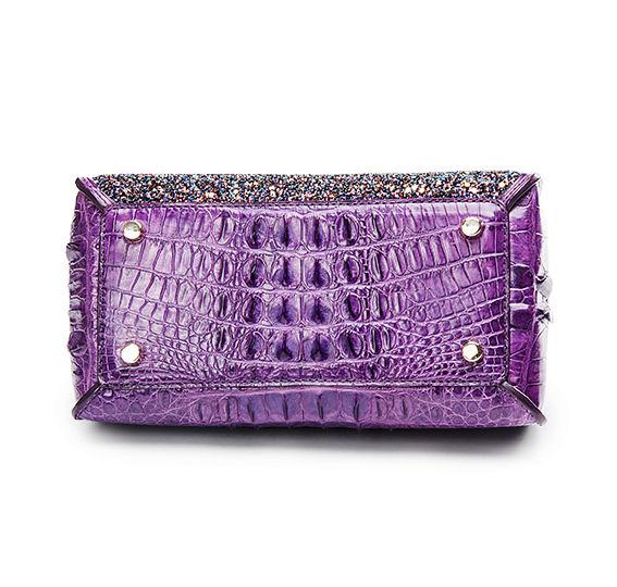 Style Crocodile Handbag Shoulder Bag Evening Bag-Bottom