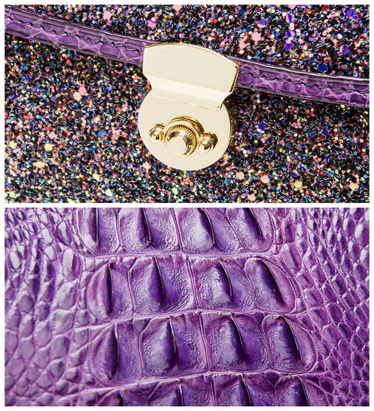 Style Crocodile Handbag Shoulder Bag Evening Bag-Details