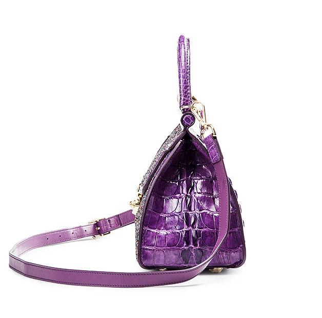 Style Crocodile Handbag Shoulder Bag Evening Bag-Side