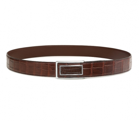 Stylish Alligator Belt, Casual Alligator Belt-Brown-1