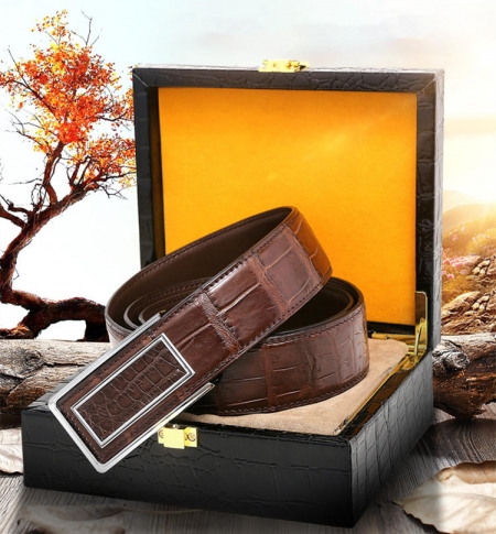 Stylish Alligator Belt, Casual Alligator Belt-Gift Box-Packaging Details