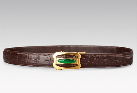 Unique Mens Alligator Belt With Agate Buckle-Exhibition