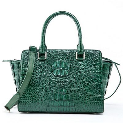 Womens Crocodile Top Handle Satchel, Crocodile Handbags Shoulder Bag