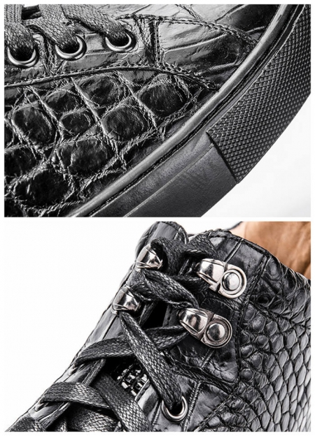 Alligator Boots, Casual Alligator Boots for Men-Details