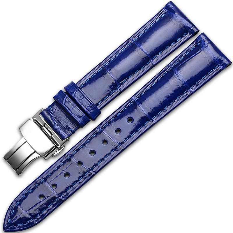 Alligator & Crocodile Apple Watch Band-Blue