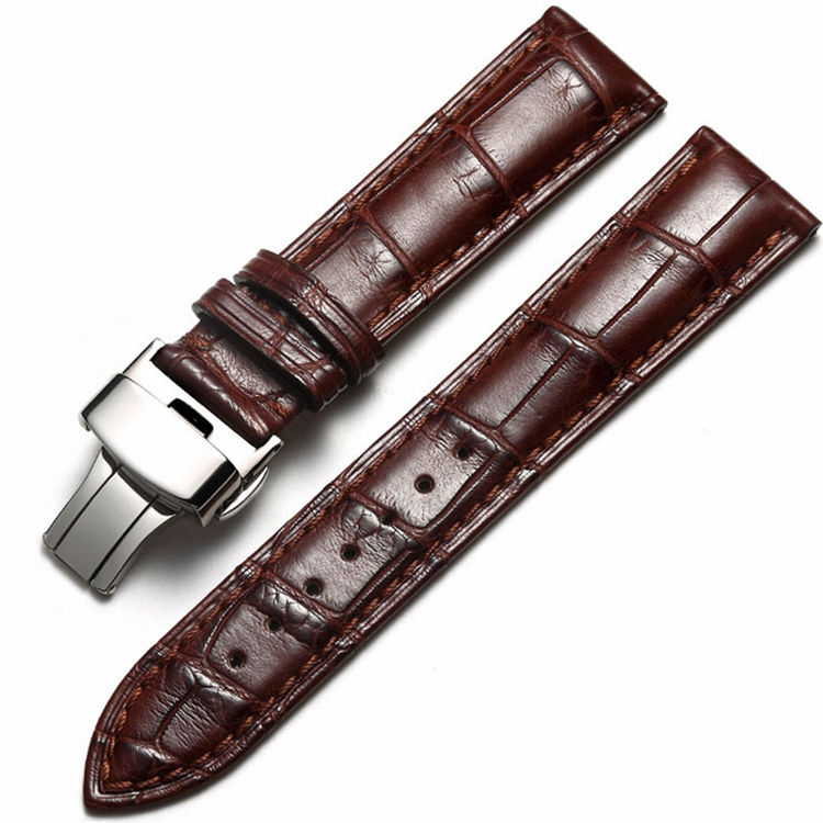 Alligator & Crocodile Apple Watch Band Brown with Silver Adapter
