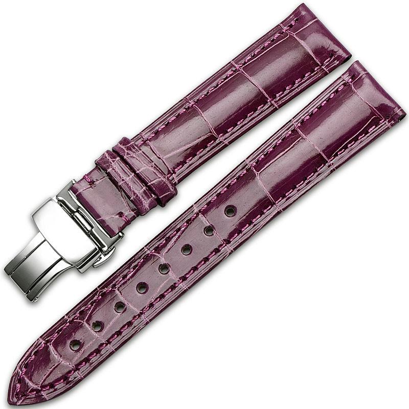 Alligator & Crocodile Apple Watch Band-Dark Purple