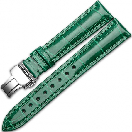 Alligator & Crocodile Apple Watch Band-Green