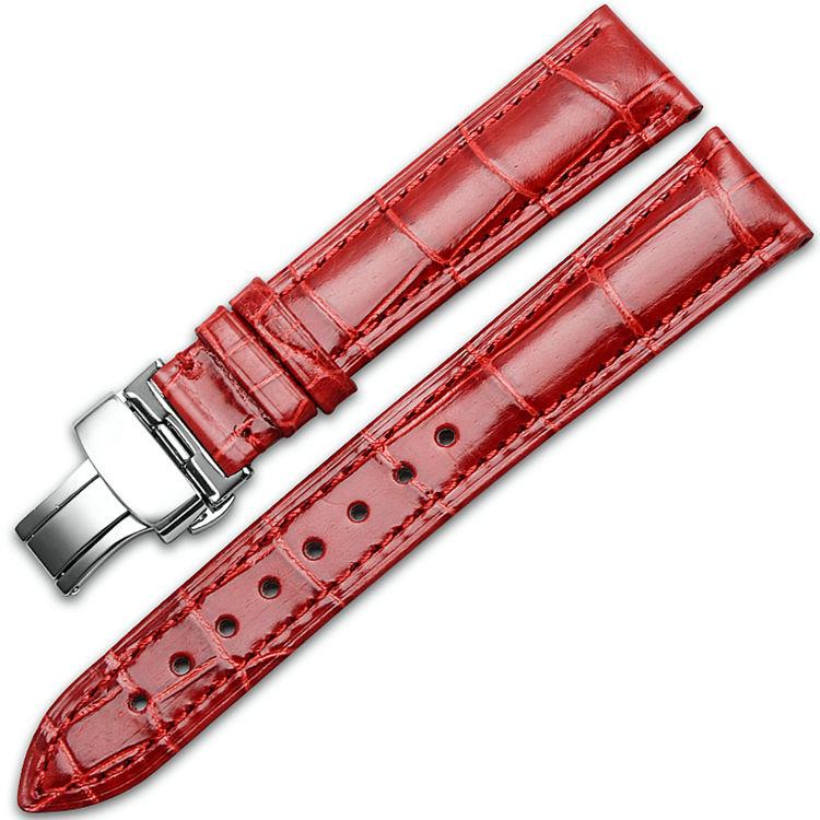 Alligator & Crocodile Apple Watch Band-Red
