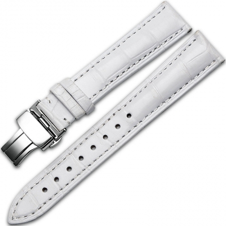 Alligator & Crocodile Apple Watch Band-White