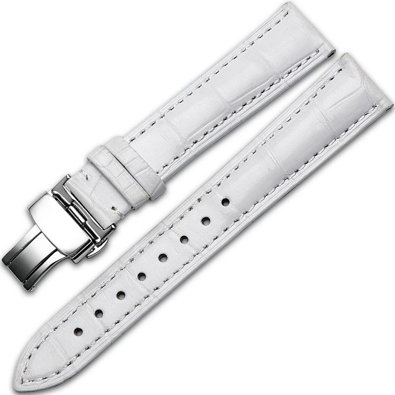 Alligator & Crocodile Apple Watch Band-White