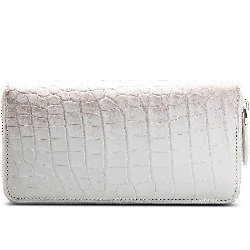 Alligator Leather Purse, Large Capacity Alligator Skin Clutch Wallet