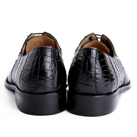 Alligator Shoes for Men, Mens Genuine Alligator Skin Shoes-Heel