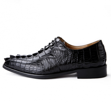 Alligator Shoes for Men, Mens Genuine Alligator Skin Shoes-Side