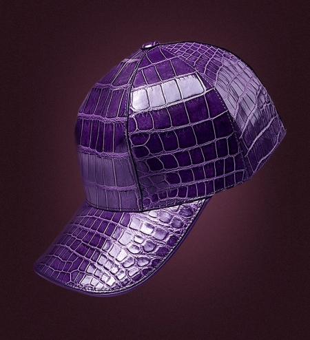 Alligator Skin Baseball Cap for Women