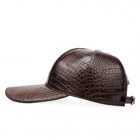 Alligator Skin Hat Baseball Cap-Brown