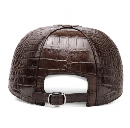 Alligator Skin Hat Baseball Cap-Brown-Back