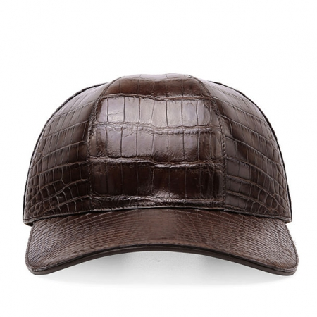 Alligator Skin Hat Baseball Cap-Brown-Front