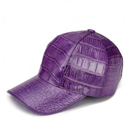 Alligator Skin Hat Baseball Cap-Purple